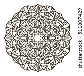 coloring book mandala. circle... | Shutterstock .eps vector #511807429