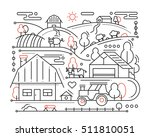 farm   modern simple line flat... | Shutterstock . vector #511810051