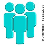 people icon blue | Shutterstock .eps vector #511812799