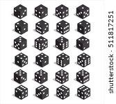 isometric dice. twenty four... | Shutterstock .eps vector #511817251