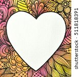 Hand Painted Watercolor Heart...