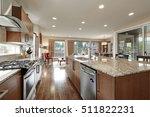 bright modern open plan kitchen ... | Shutterstock . vector #511822231