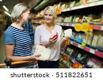family purchasing  food in... | Shutterstock . vector #511822651