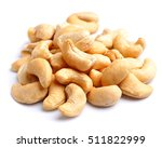 cashew nut closeup on white... | Shutterstock . vector #511822999