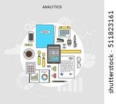 banner concept analytics ... | Shutterstock .eps vector #511823161
