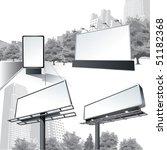 vector outdoor billboard | Shutterstock .eps vector #51182368