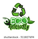 ecology concept poster. eco... | Shutterstock .eps vector #511827694