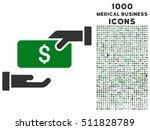 bribe vector bicolor icon with... | Shutterstock .eps vector #511828789