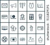 set of 20 universal editable... | Shutterstock .eps vector #511829191