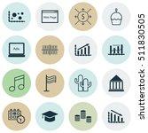 set of 16 universal editable... | Shutterstock .eps vector #511830505