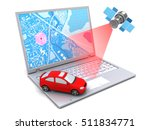 3d illustration of car location ... | Shutterstock . vector #511834771