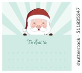 letter to santa   santa edition | Shutterstock .eps vector #511835347