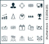 Set Of 20 Universal Editable Icons. Can Be Used For Web, Mobile And App Design. Includes Icons Such As Decorated Tree, Collaborative Solution, Bank Payment And More.