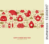 chinese new year greeting card. | Shutterstock .eps vector #511836547