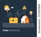 electricity connection  solar... | Shutterstock .eps vector #511839889