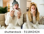 Sick Couple Catch Cold. Man An...