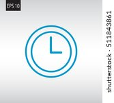 clock icon vector .