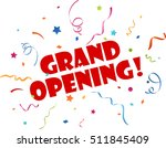 grand opening banner with... | Shutterstock .eps vector #511845409