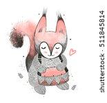 squirrel. fashion print design | Shutterstock . vector #511845814