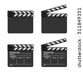 blank clapper board set on... | Shutterstock .eps vector #511849351