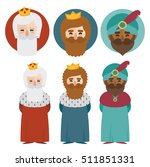 the three kings of orient on a... | Shutterstock .eps vector #511851331
