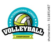 volleyball sport ball emblem | Shutterstock .eps vector #511851487