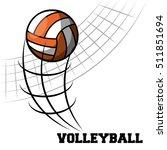 volleyball sport ball emblem | Shutterstock .eps vector #511851694
