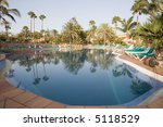 a beautiful pool and sun... | Shutterstock . vector #5118529