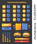 a set of buttons for gaming... | Shutterstock .eps vector #511855399