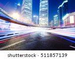the light trails on the modern... | Shutterstock . vector #511857139