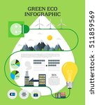 eco info graphic illustration | Shutterstock .eps vector #511859569