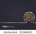 abstract creative concept... | Shutterstock .eps vector #511860811
