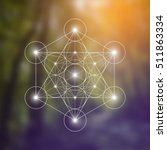 metatron cube and flower of... | Shutterstock .eps vector #511863334