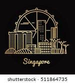 singapore city golden...   Shutterstock .eps vector #511864735