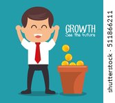 growth see the future concept | Shutterstock .eps vector #511866211