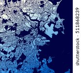boston two tone map artprint ... | Shutterstock .eps vector #511868239