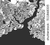 istanbul monochrome map... | Shutterstock .eps vector #511868335