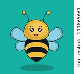 cute bee stuffed icon | Shutterstock .eps vector #511869661