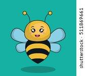 cute bee stuffed icon   Shutterstock .eps vector #511869661