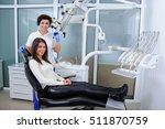 dentist in a dental clinic | Shutterstock . vector #511870759