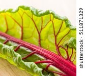 Square Image Of Swiss Chard...