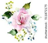 beautiful summer flowers ... | Shutterstock . vector #511872175
