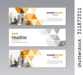 banner business layout template ... | Shutterstock .eps vector #511872511