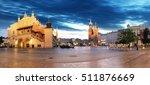 krakow old city at night.... | Shutterstock . vector #511876669