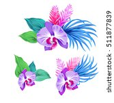 few vector orchid bouquets.... | Shutterstock .eps vector #511877839