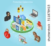 cyber crime and data hacking... | Shutterstock .eps vector #511878415