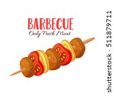 barbecue vector illustration .... | Shutterstock .eps vector #511879711