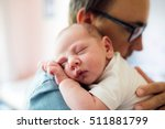 close up of young father... | Shutterstock . vector #511881799