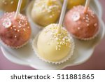 close up of pink and white cake ... | Shutterstock . vector #511881865