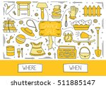garage sale  household used... | Shutterstock .eps vector #511885147